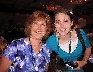 With a fan, Literacy Signing, RWA 2011